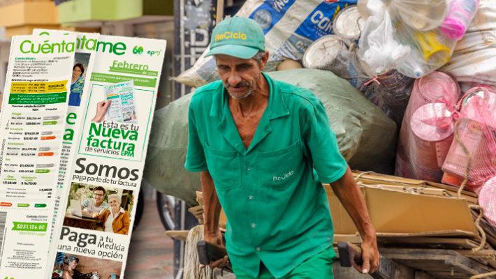 Sube factura de servicios públicos para pagar a recicladores