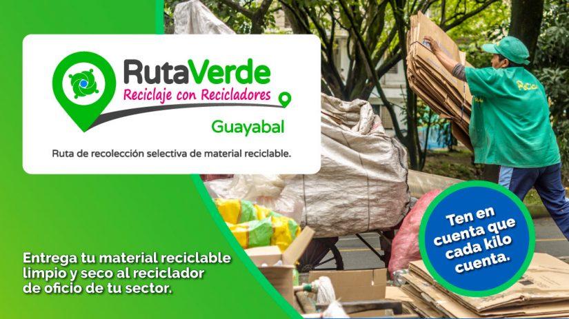 Guayabal disfruta de su ruta de recolección de reciclaje
